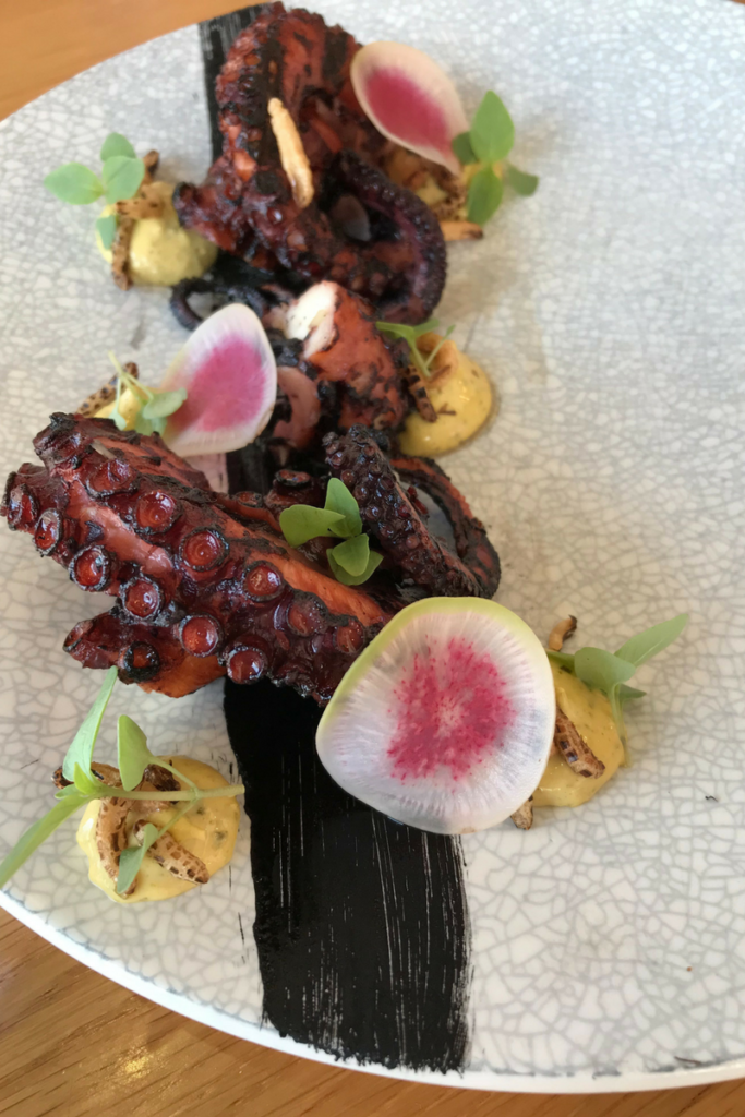 Jimmy Wah's Grilled giant octopus